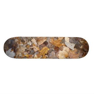 Dried Leaves Skateboard Deck