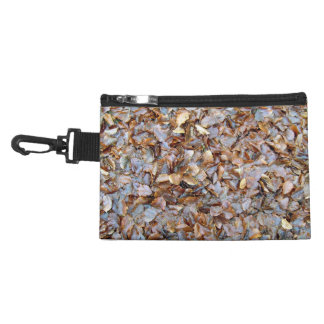 Dried leaves texture accessories bags