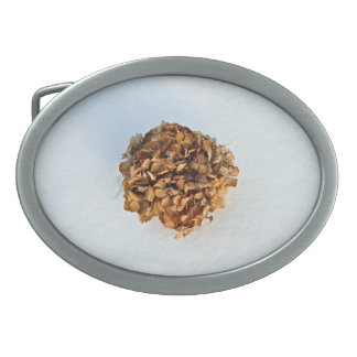 Dried Leaves Texture Oval Belt Buckles
