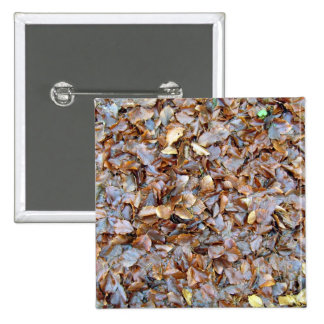 Dried leaves texture pinback buttons