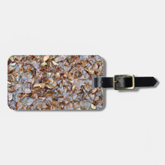 Dried leaves texture travel bag tags