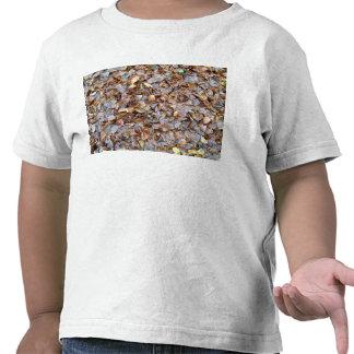 Dried leaves texture tshirt