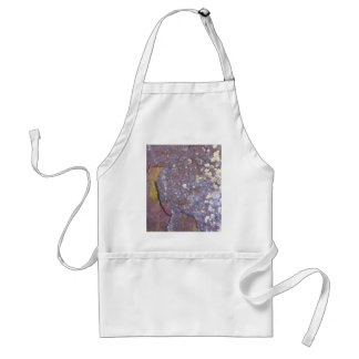 Dried lichen moss patterns on rustic granite adult apron