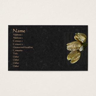 Dried Lily Seed Pods Business Card