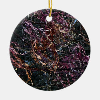 Dried Maple Leaves in Watercolor Ornament