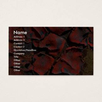 Dried paint business card