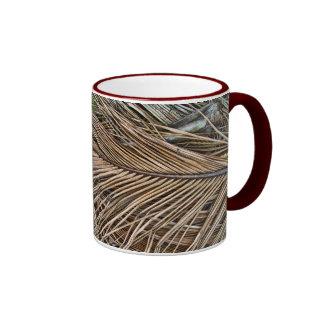 Dried Palm Frondss Ringer Coffee Mug