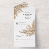 Dried Pampas Grass Wedding  All In One Invitation