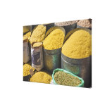 Dried pasta and beans for sale, Marrakech, 2 Canvas Print