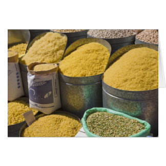 Dried pasta and beans for sale, Marrakech, 2 Greeting Cards