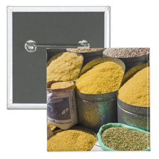 Dried pasta and beans for sale, Marrakech, 2 Pinback Button