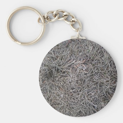 Dried Pine Leaves Background Pattern Basic Round Button Keychain