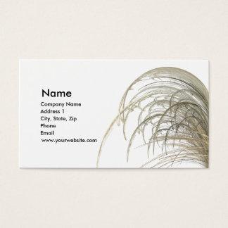 Dried Prairie Grass Business Card