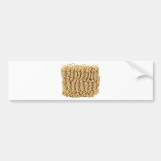 Dried ramen noodles bumper sticker
