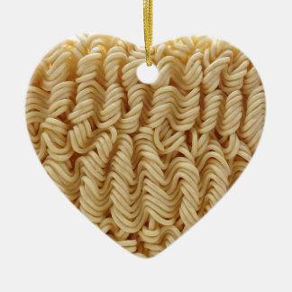 Dried ramen noodles ceramic ornament