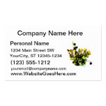 Dried Rose Arrangement yellow theme Business Cards