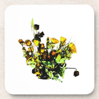 Dried Rose Arrangement yellow theme Coasters