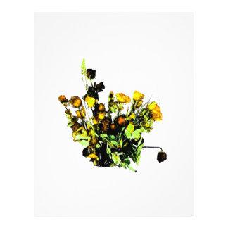 Dried Rose Arrangement yellow theme Flyer Design