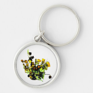 Dried Rose Arrangement yellow theme Keychain