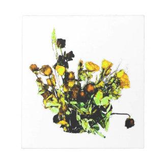 Dried Rose Arrangement yellow theme Memo Notepads