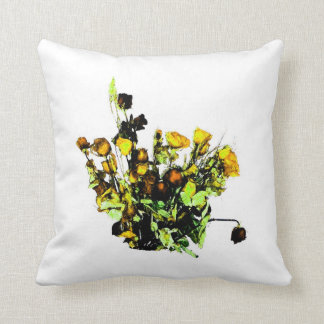 Dried Rose Arrangement yellow theme Pillow