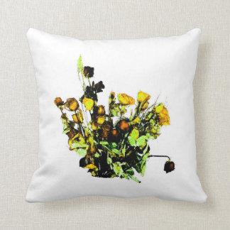 Dried Rose Arrangement yellow theme Pillows