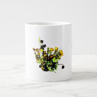 Dried Rose Arrangement yellow theme Jumbo Mugs