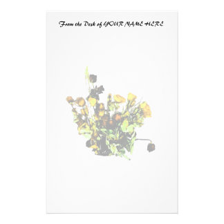 Dried Rose Arrangement yellow theme Stationery