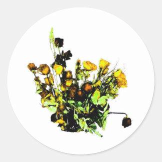 Dried Rose Arrangement yellow theme Sticker