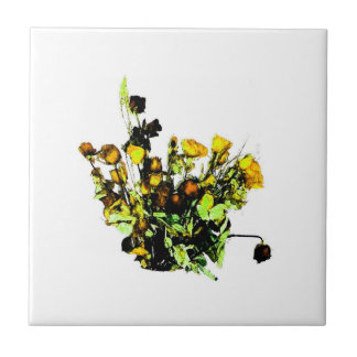 Dried Rose Arrangement yellow theme Tile