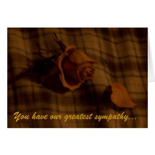 Dried Rose Sympathy Card