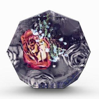 Dried Roses Black and Grey Acrylic Award
