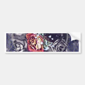 Dried Roses Black and Grey Bumper Sticker