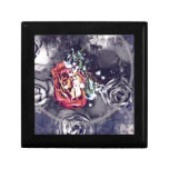 Dried Roses Black and Grey Gift Box