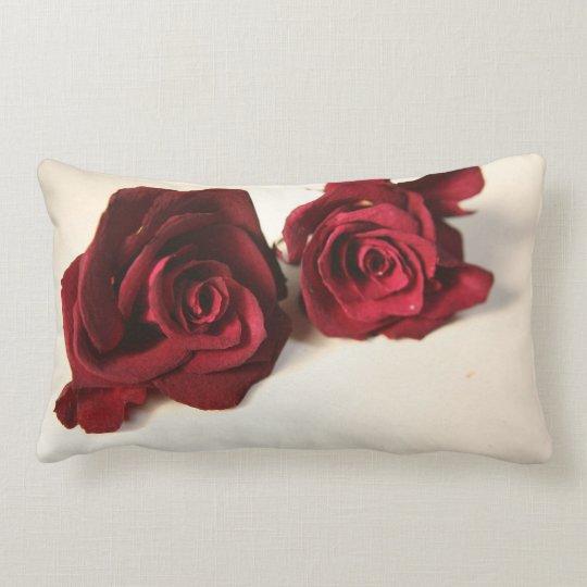 Dried roses lumbar pillow
