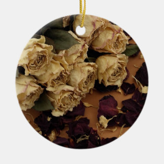 Dried Roses Christmas Ornaments