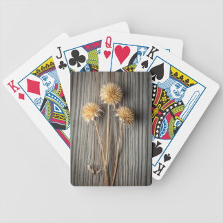 Dried Sun Flower Bicycle Playing Cards