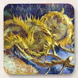 Dried Sunflowers by Van Gogh - Cork Coaster