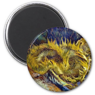 Dried Sunflowers - magnet