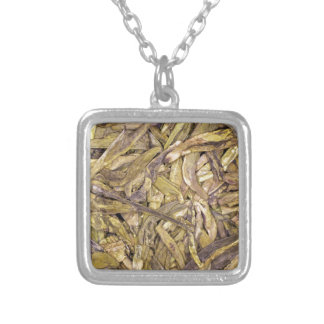 Dried tea leaves of Chinese green tea Necklaces