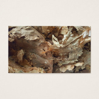 Dried tobacco leaves business card