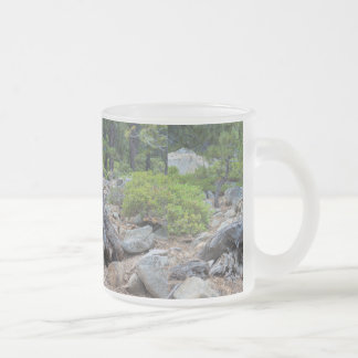 Dried Tree Trunk In The Forest Frosted Glass Coffee Mug