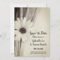 Dried Wheat Country Farm Wedding Save the Date