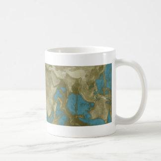 Dried World Map Coffee Mug