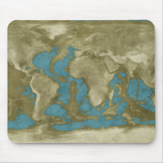 Dried World Map Mouse Pads