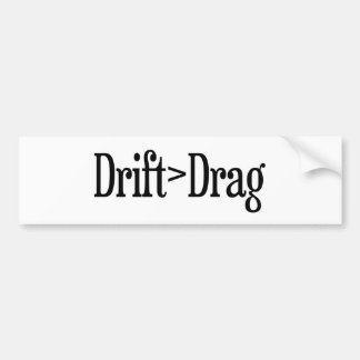 Drift Drag Bumper Sticker