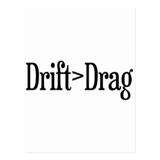 Drift Drag Postcard