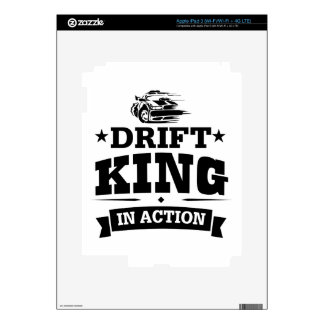 Drift King In Action iPad 3 Decals