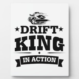 Drift King In Action Plaque