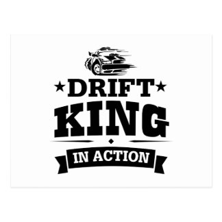 Drift King In Action Postcard